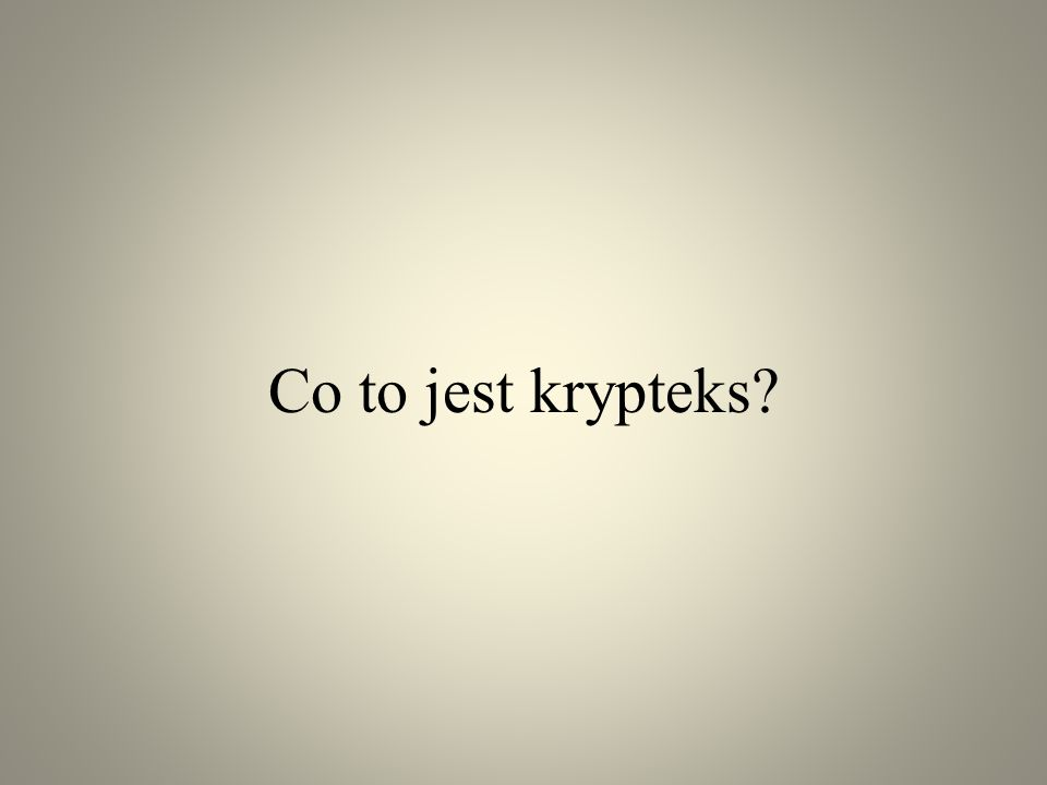 Co to jest krypteks