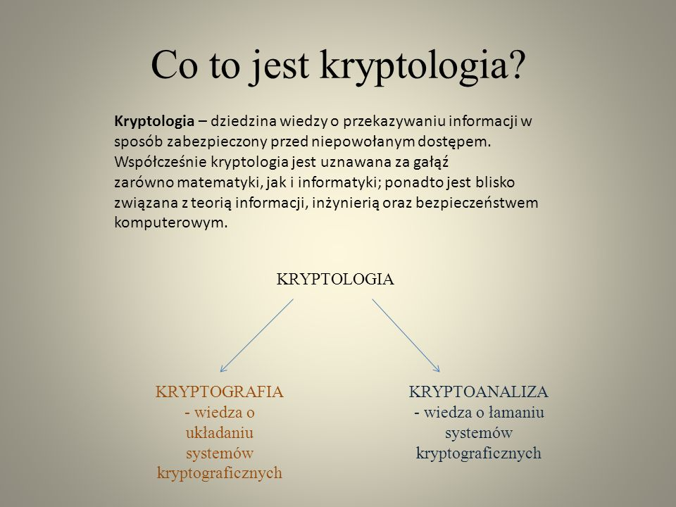 Co to jest kryptologia