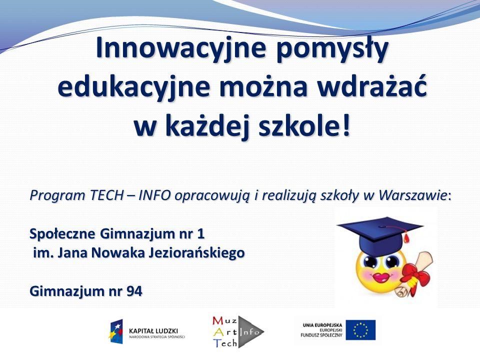 Innowacyjne pomysły edukacyjne można wdrażać w każdej szkole!
