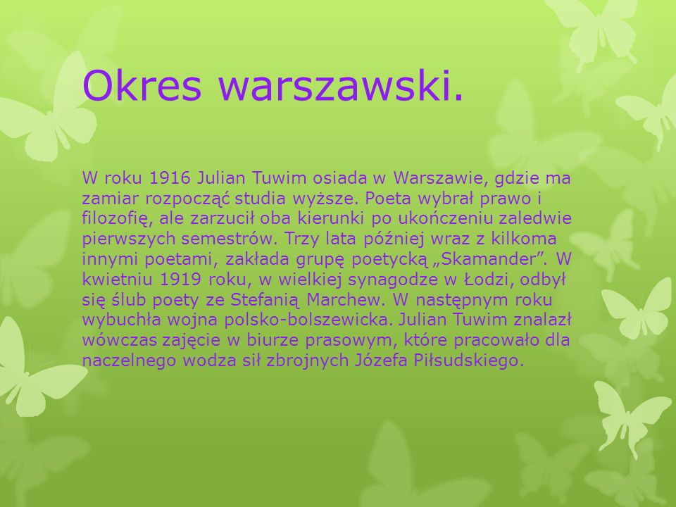 Okres warszawski.