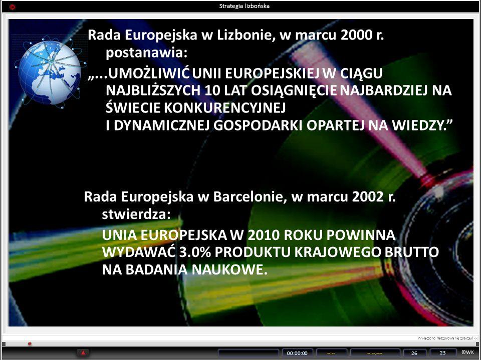 Rada Europejska w Lizbonie, w marcu 2000 r. postanawia: