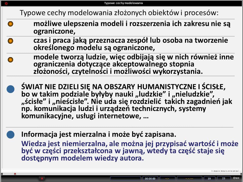 Typowe cechy modelowania