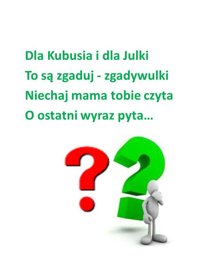 Dla Kubusia i dla Julki To są zgaduj - zgadywulki