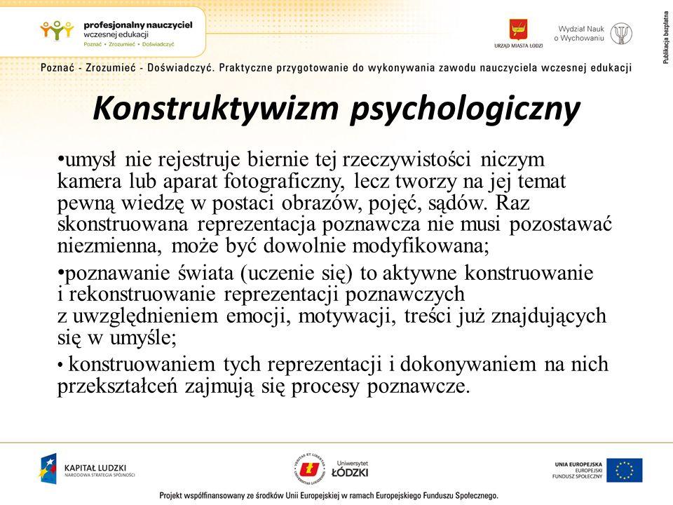 Konstruktywizm psychologiczny