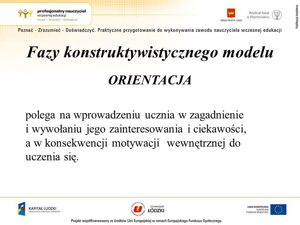 Fazy konstruktywistycznego modelu