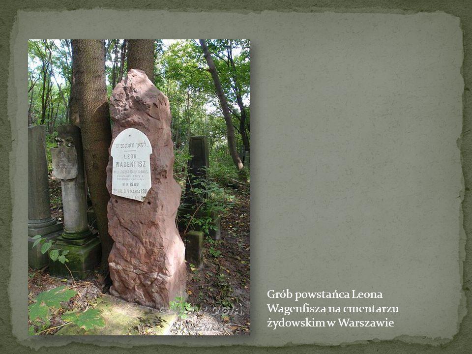 Grób powstańca Leona Wagenfisza na cmentarzu żydowskim w Warszawie