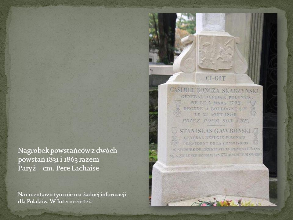 Nagrobek powstańców z dwóch powstań 1831 i 1863 razem