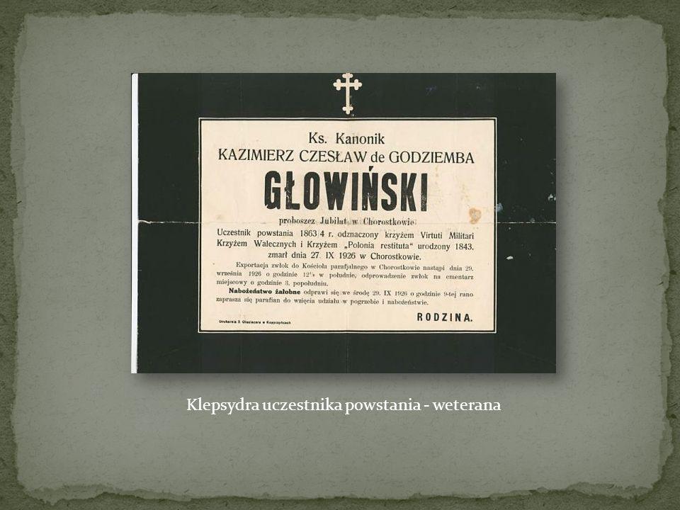 Klepsydra uczestnika powstania - weterana