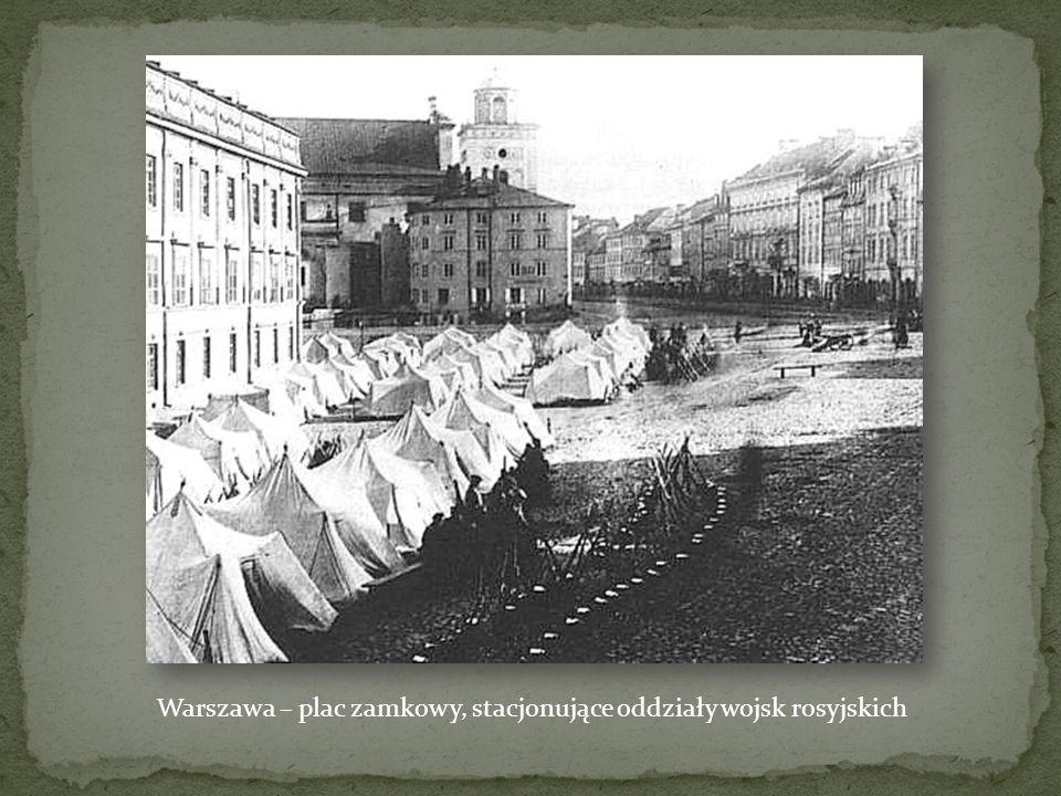 Warszawa – plac zamkowy, stacjonujące oddziały wojsk rosyjskich
