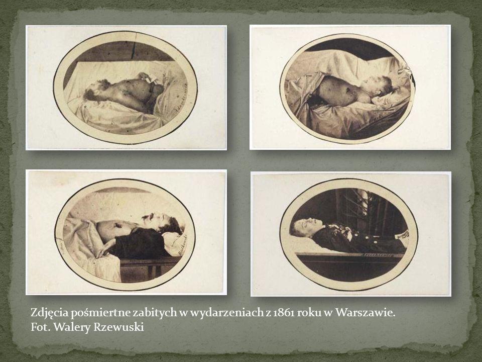 Zdjęcia pośmiertne zabitych w wydarzeniach z 1861 roku w Warszawie.