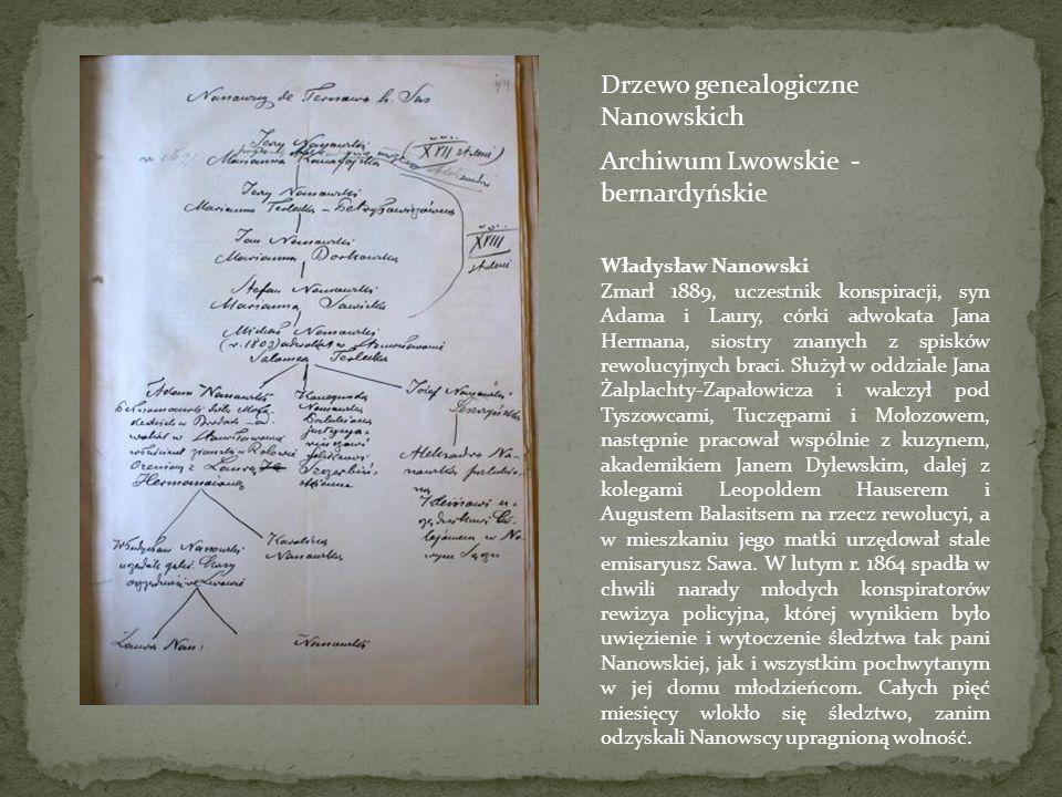 Drzewo genealogiczne Nanowskich