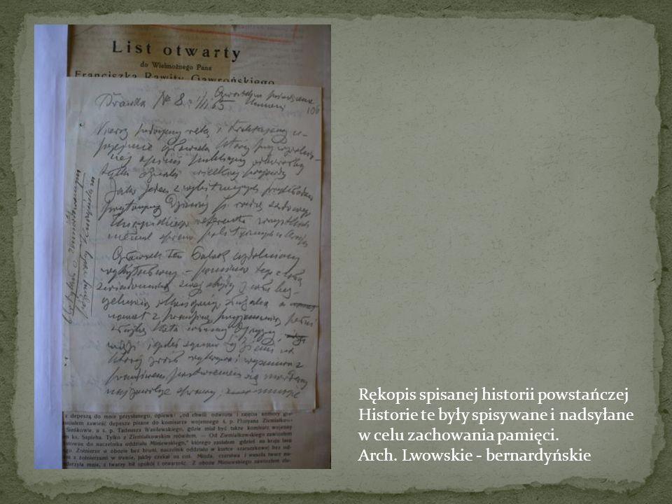 Rękopis spisanej historii powstańczej