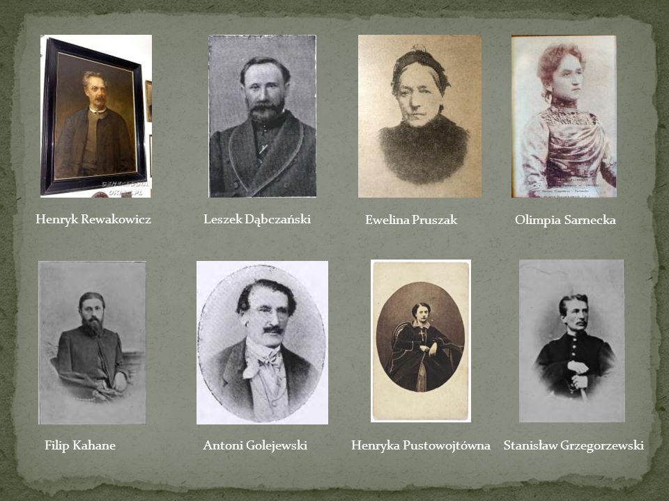 Henryk Rewakowicz Leszek Dąbczański. Ewelina Pruszak. Olimpia Sarnecka. Filip Kahane. Antoni Golejewski.