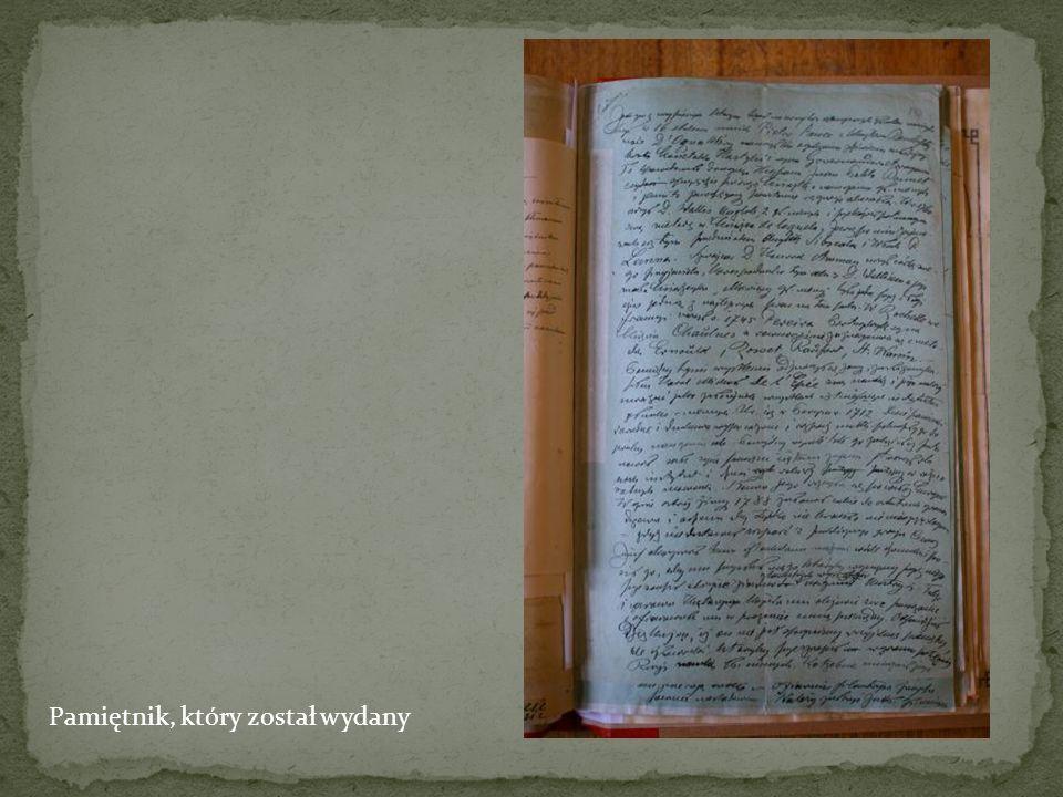 Pamiętnik, który został wydany