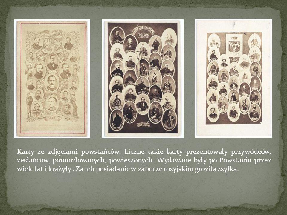 Karty ze zdjęciami powstańców