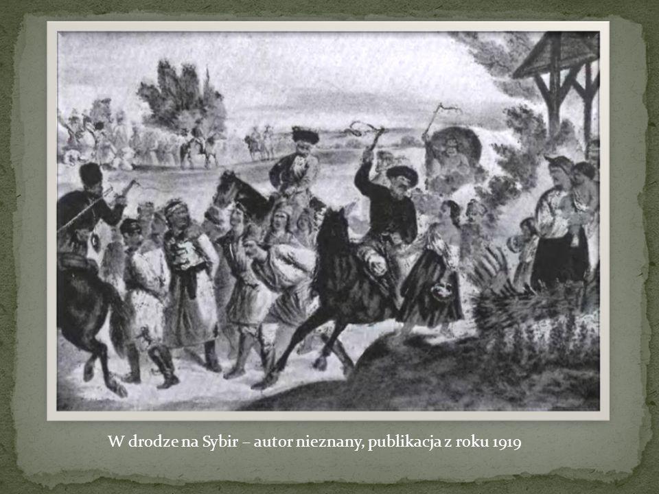 W drodze na Sybir – autor nieznany, publikacja z roku 1919