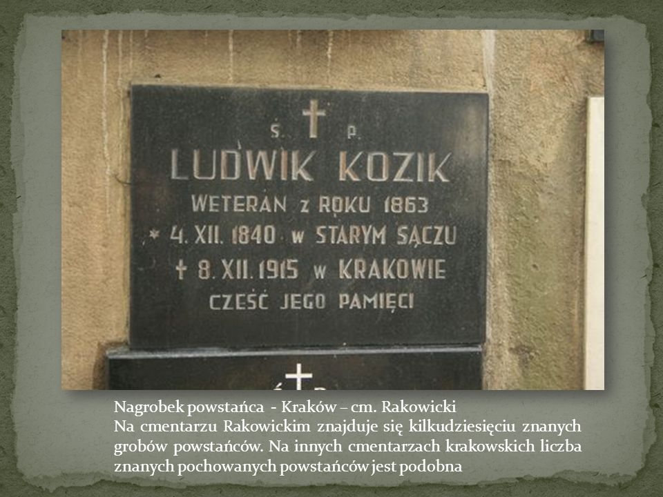 Nagrobek powstańca - Kraków – cm. Rakowicki