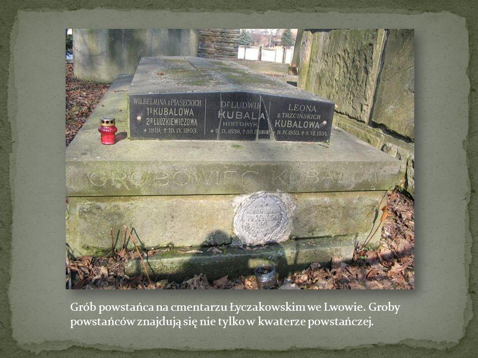 Grób powstańca na cmentarzu Łyczakowskim we Lwowie
