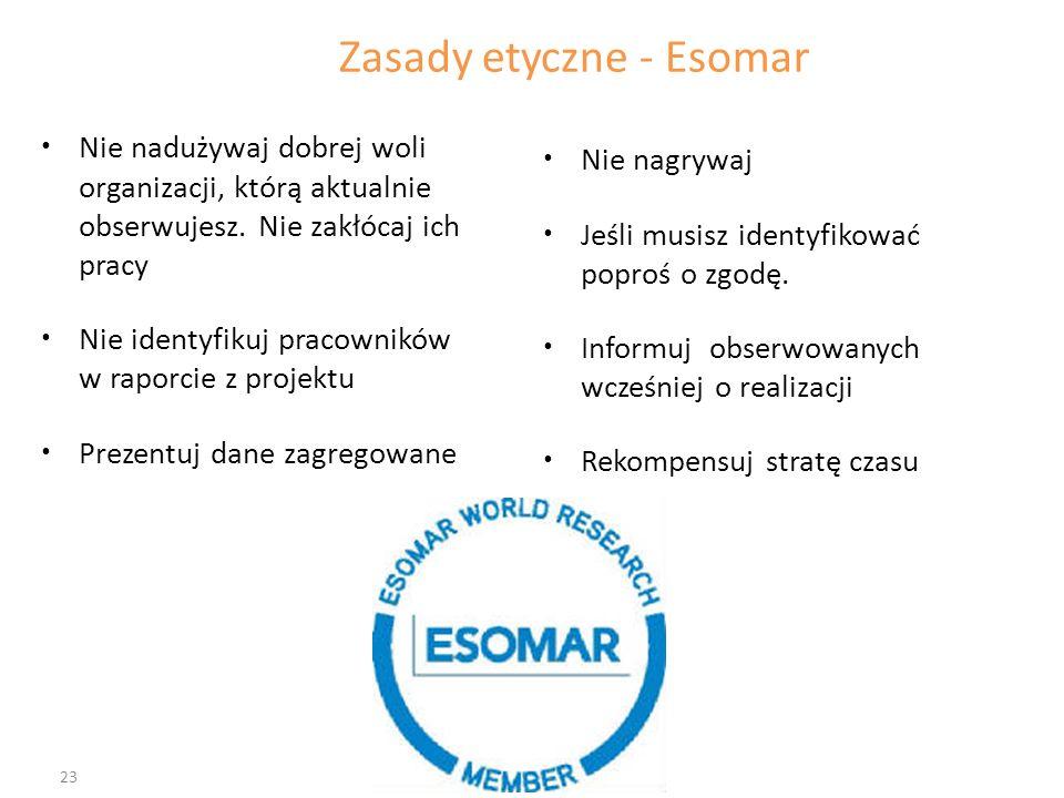Zasady etyczne - Esomar