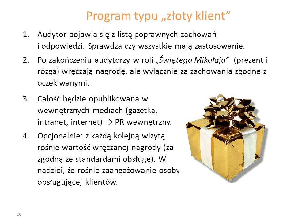 """Program typu """"złoty klient"""