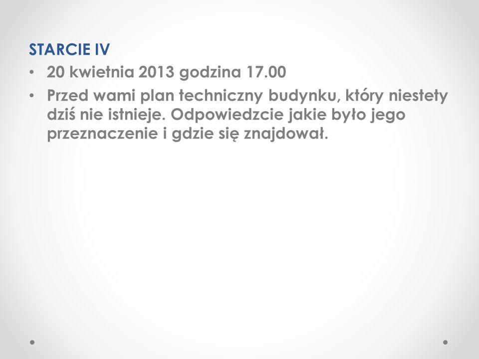 STARCIE IV 20 kwietnia 2013 godzina 17.00.