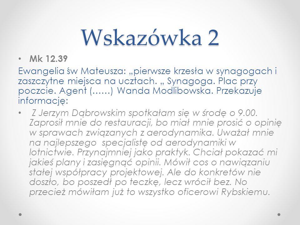 Wskazówka 2 Mk 12.39.