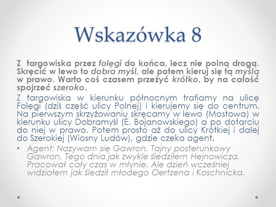 Wskazówka 8