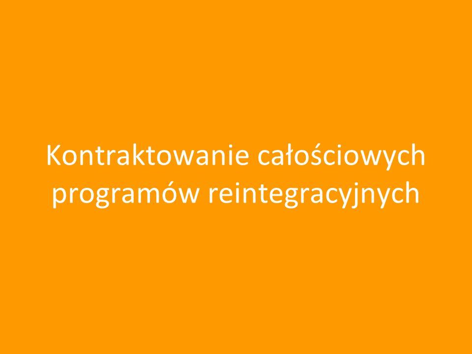 Kontraktowanie całościowych programów reintegracyjnych