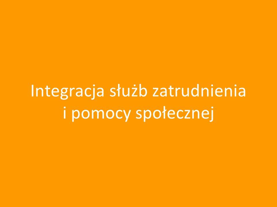 Integracja służb zatrudnienia i pomocy społecznej