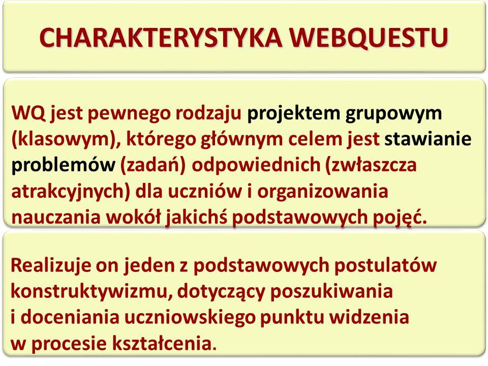 CHARAKTERYSTYKA WEBQUESTU