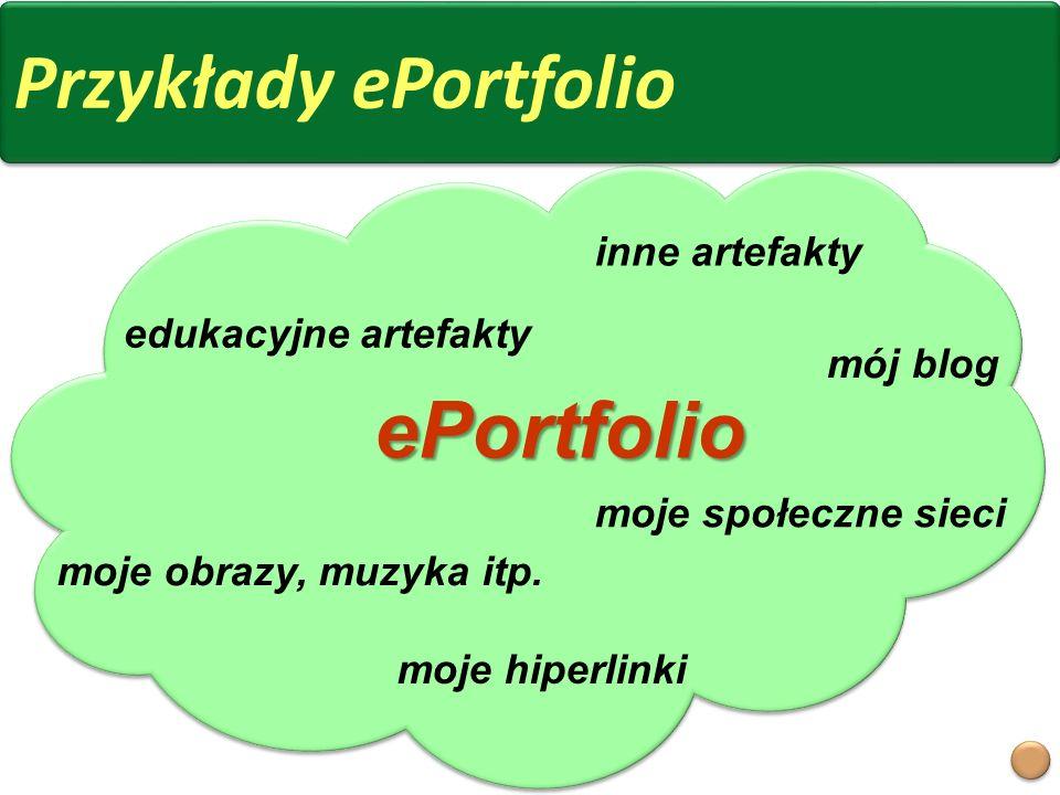Przykłady ePortfolio ePortfolio inne artefakty edukacyjne artefakty