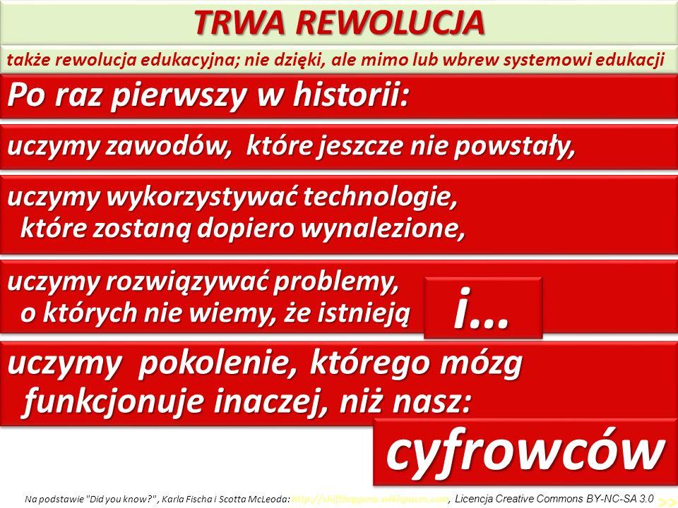 i… cyfrowców TRWA REWOLUCJA Po raz pierwszy w historii: