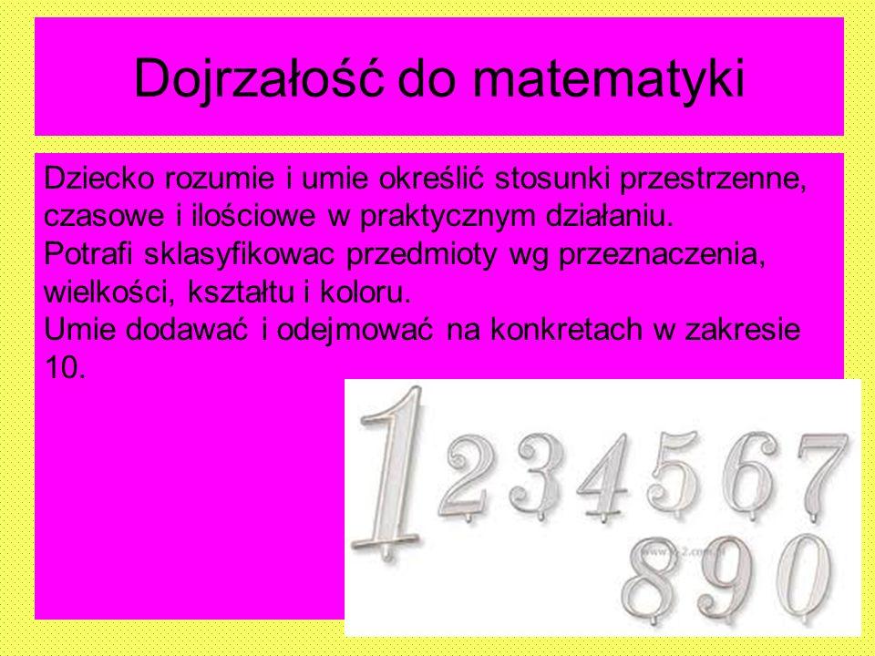 Dojrzałość do matematyki