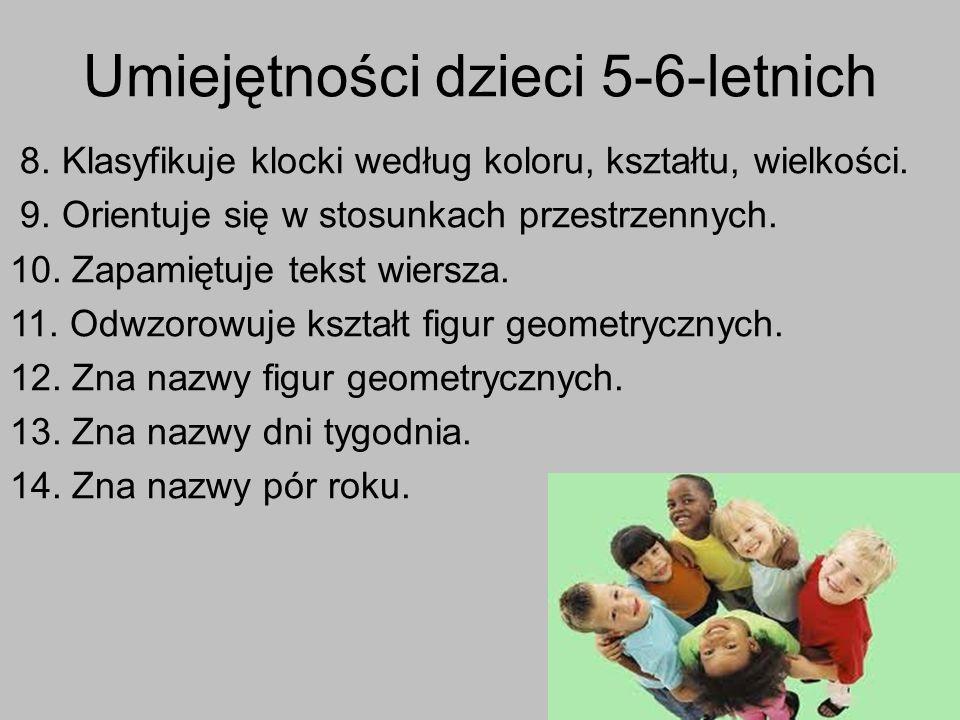 Umiejętności dzieci 5-6-letnich