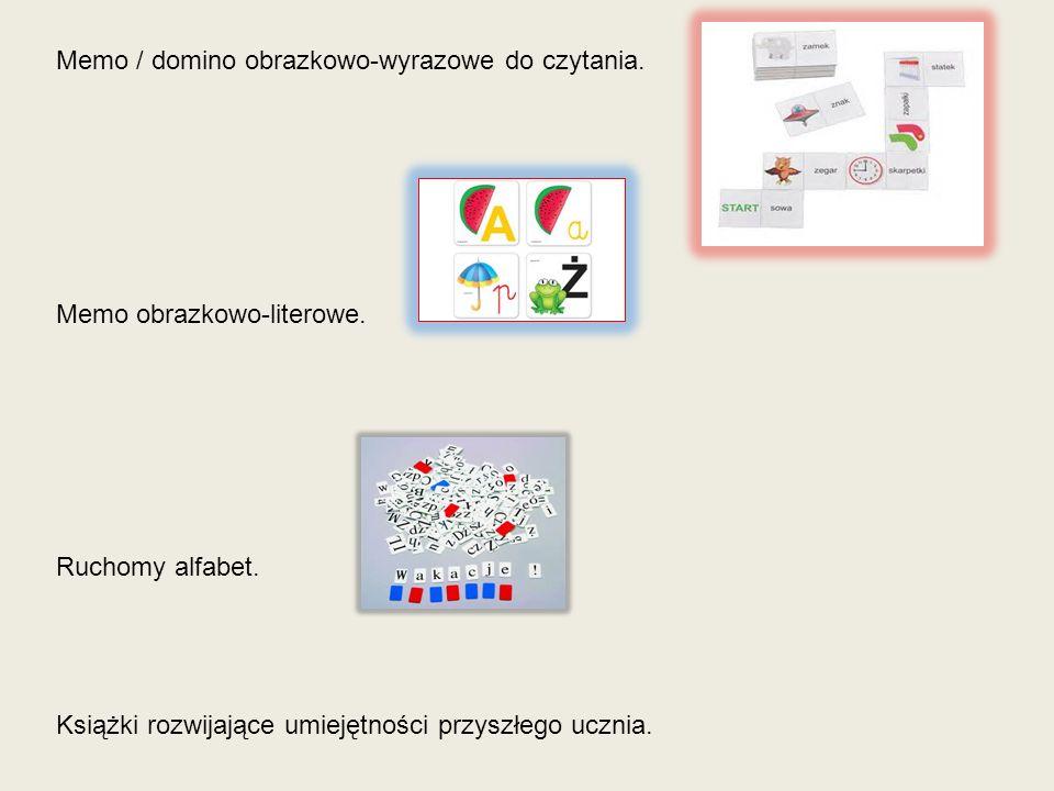 Memo / domino obrazkowo-wyrazowe do czytania.