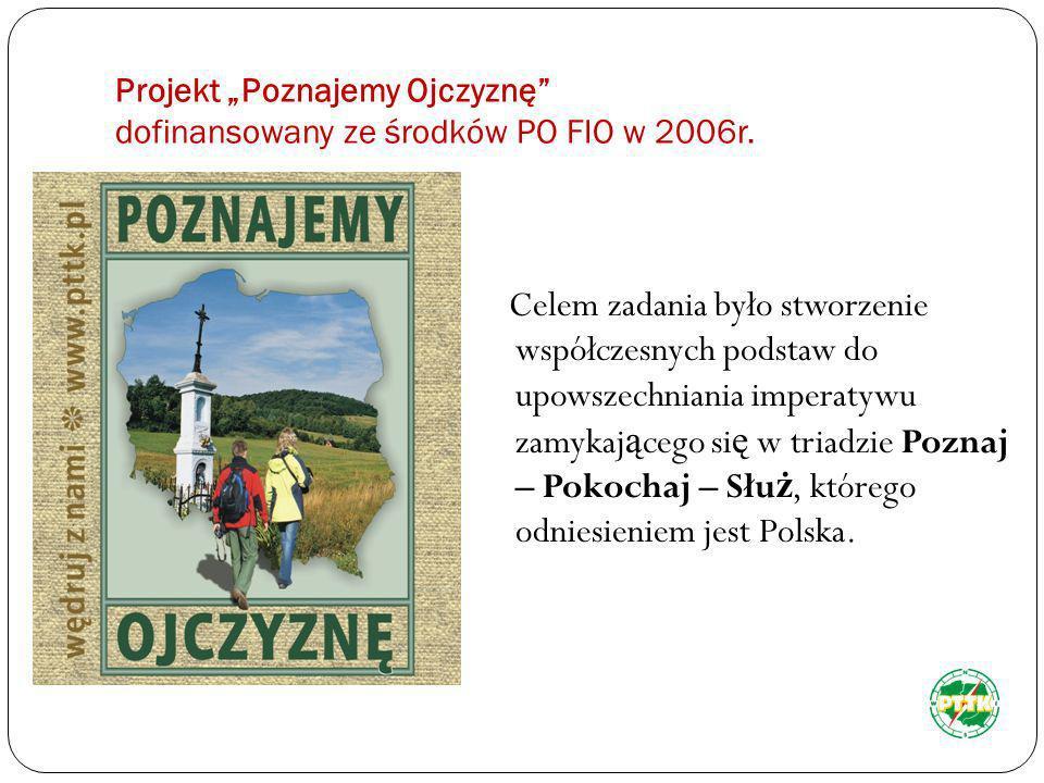 """Projekt """"Poznajemy Ojczyznę dofinansowany ze środków PO FIO w 2006r."""