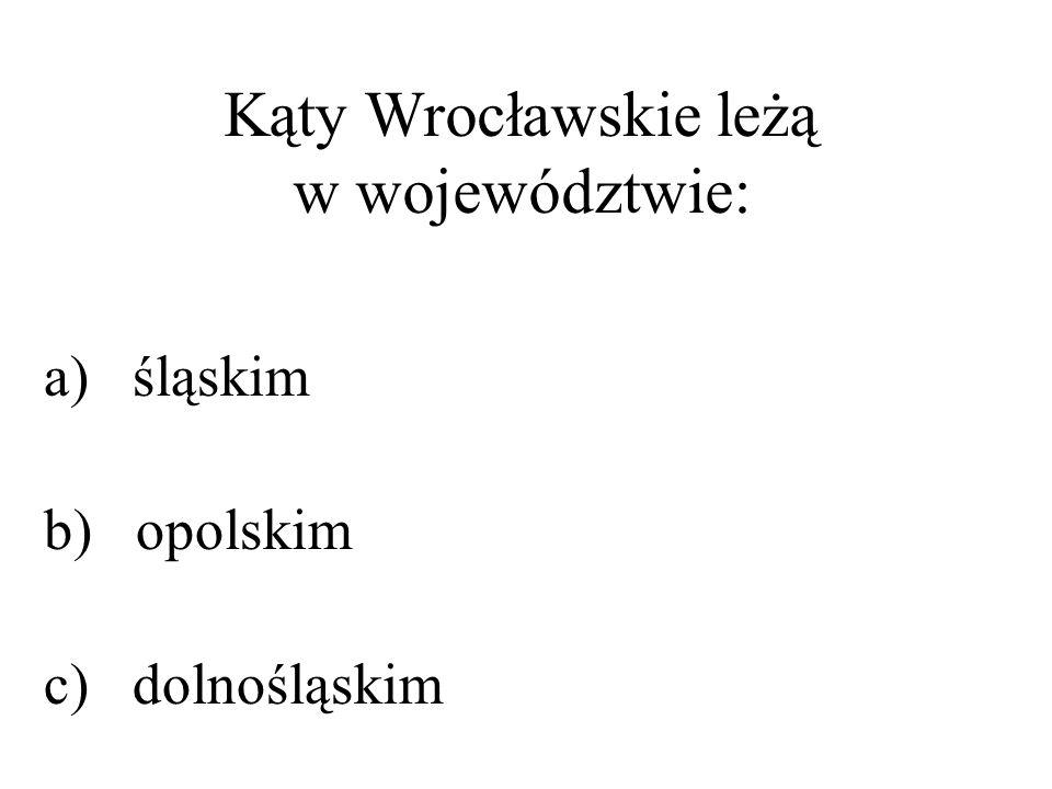 Kąty Wrocławskie leżą w województwie: