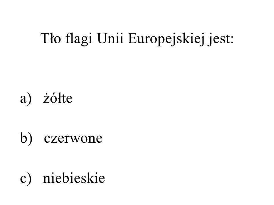 Tło flagi Unii Europejskiej jest: