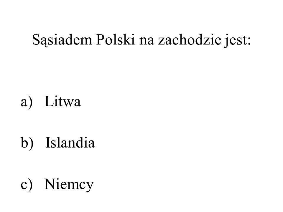 Sąsiadem Polski na zachodzie jest: