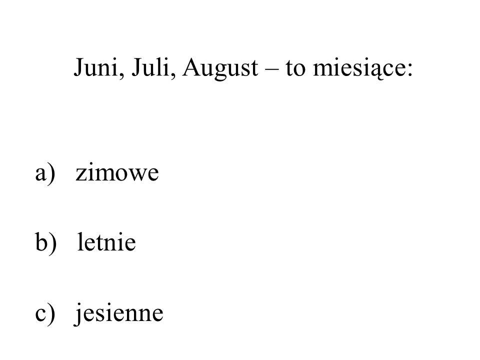 Juni, Juli, August – to miesiące: