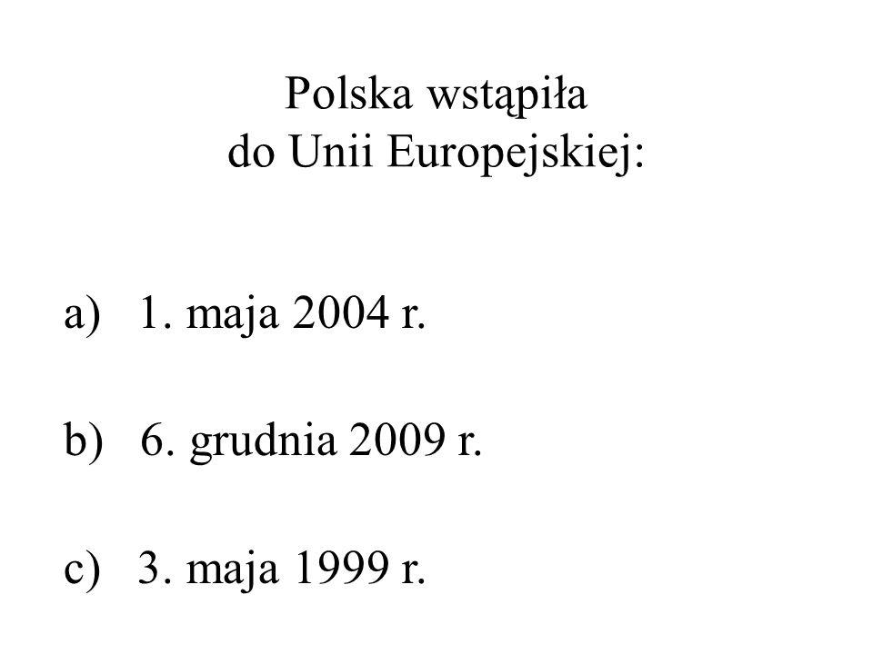 Polska wstąpiła do Unii Europejskiej:
