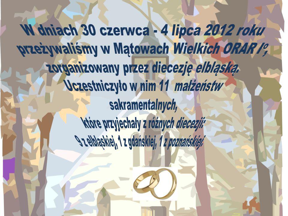 W dniach 30 czerwca - 4 lipca 2012 roku przeżywaliśmy w Mątowach Wielkich ORAR Io, zorganizowany przez diecezję elbląską.