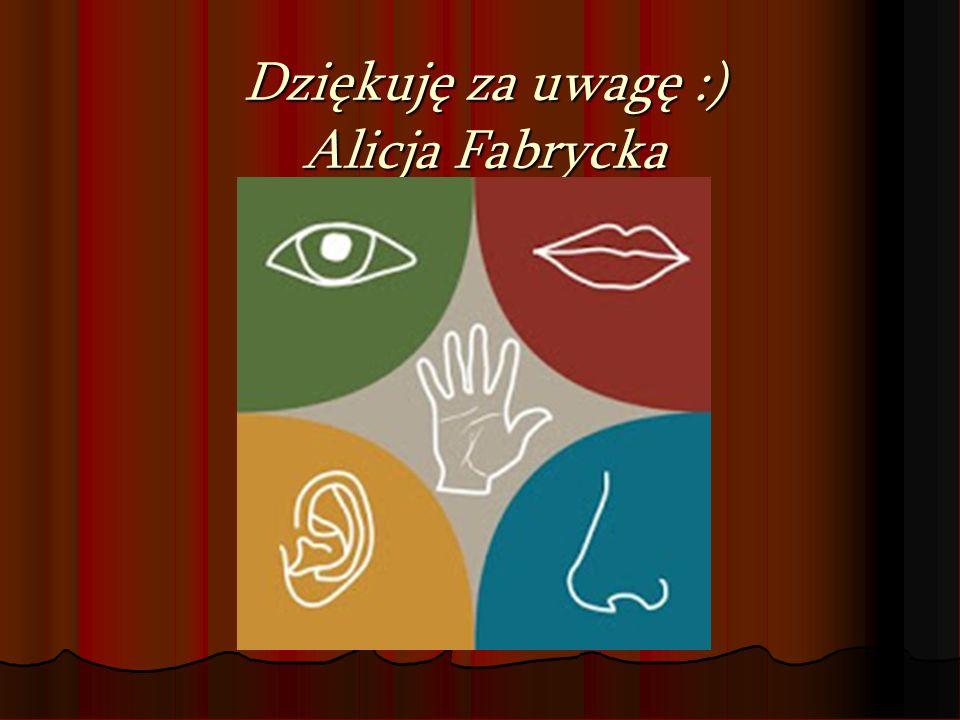 Dziękuję za uwagę :) Alicja Fabrycka