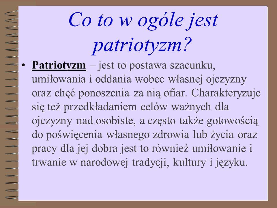 Co to w ogóle jest patriotyzm