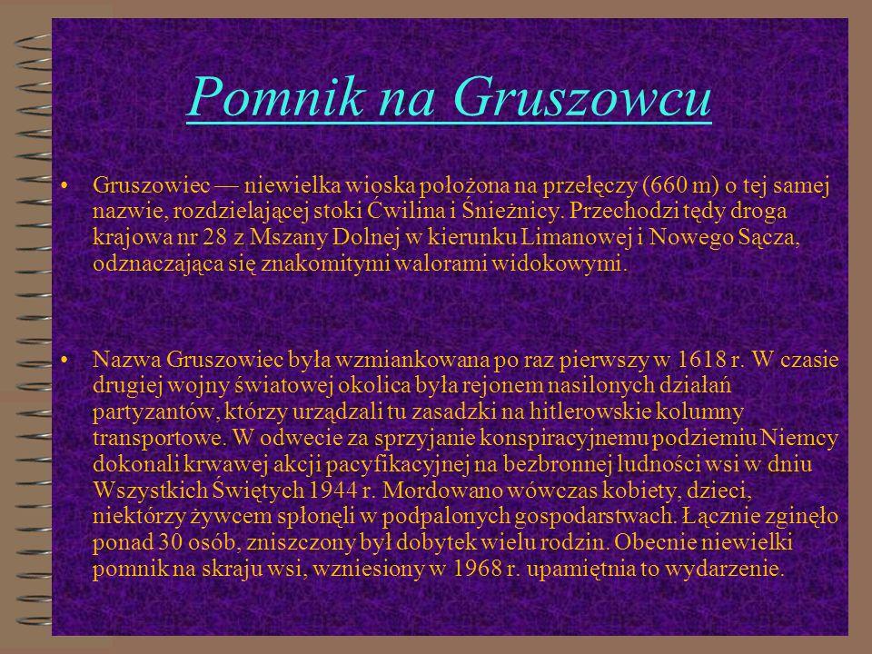 Pomnik na Gruszowcu