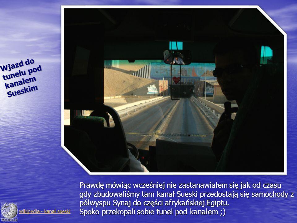 Wjazd do tunelu pod kanałem Sueskim