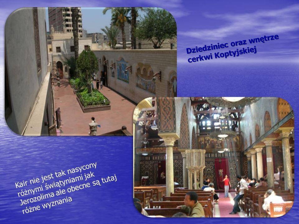 Dziedziniec oraz wnętrze cerkwi Koptyjskiej