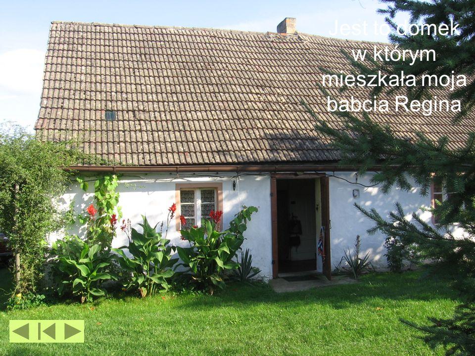 Jest to domek w którym mieszkała moja babcia Regina
