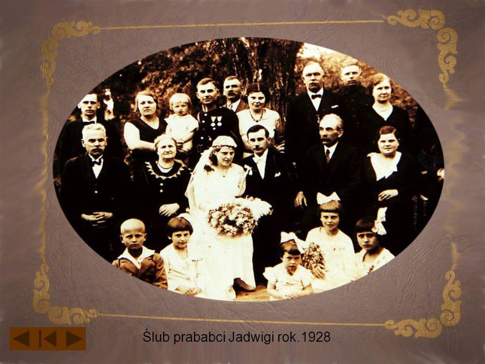 Ślub prababci Jadwigi rok.1928