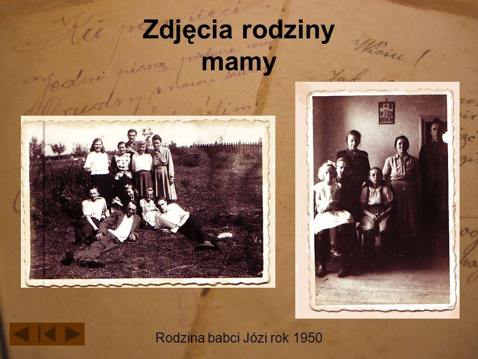 Zdjęcia rodziny mamy Rodzina babci Józi rok 1950